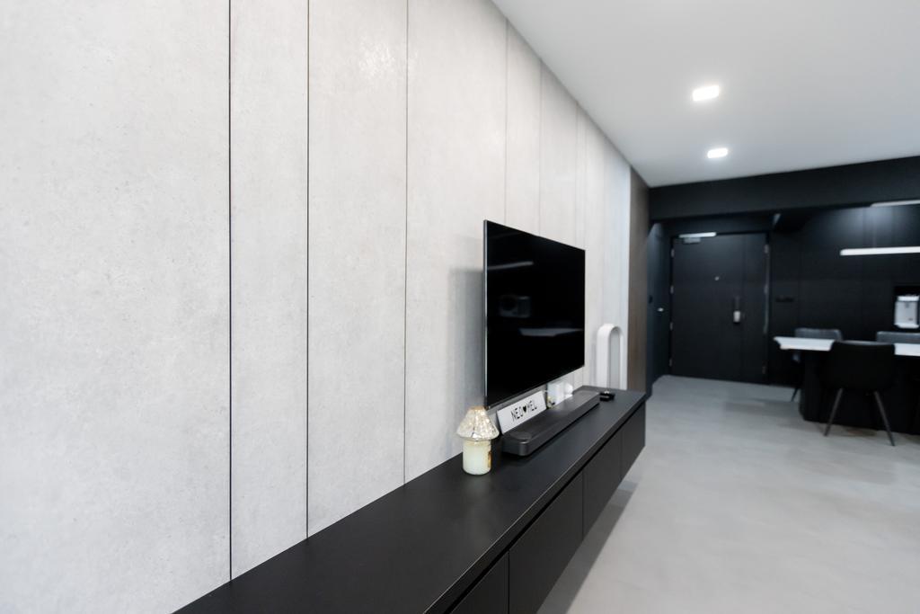 Contemporary, HDB, Living Room, Alkaff Crescent, Interior Designer, Forefront Interior
