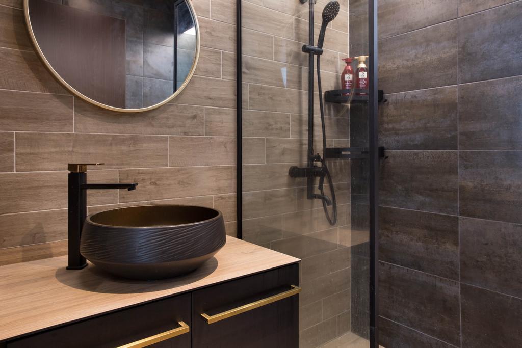 Scandinavian, HDB, Bathroom, Punggol Road, Interior Designer, Inizio Atelier, Industrial