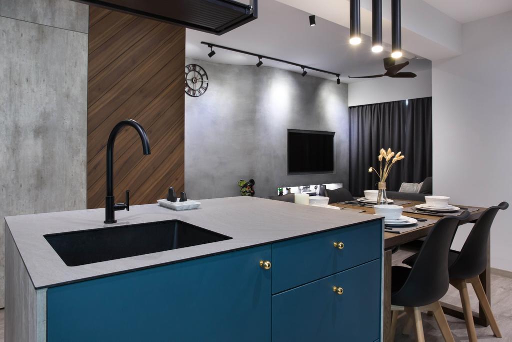Scandinavian, HDB, Kitchen, Punggol Road, Interior Designer, Inizio Atelier, Industrial