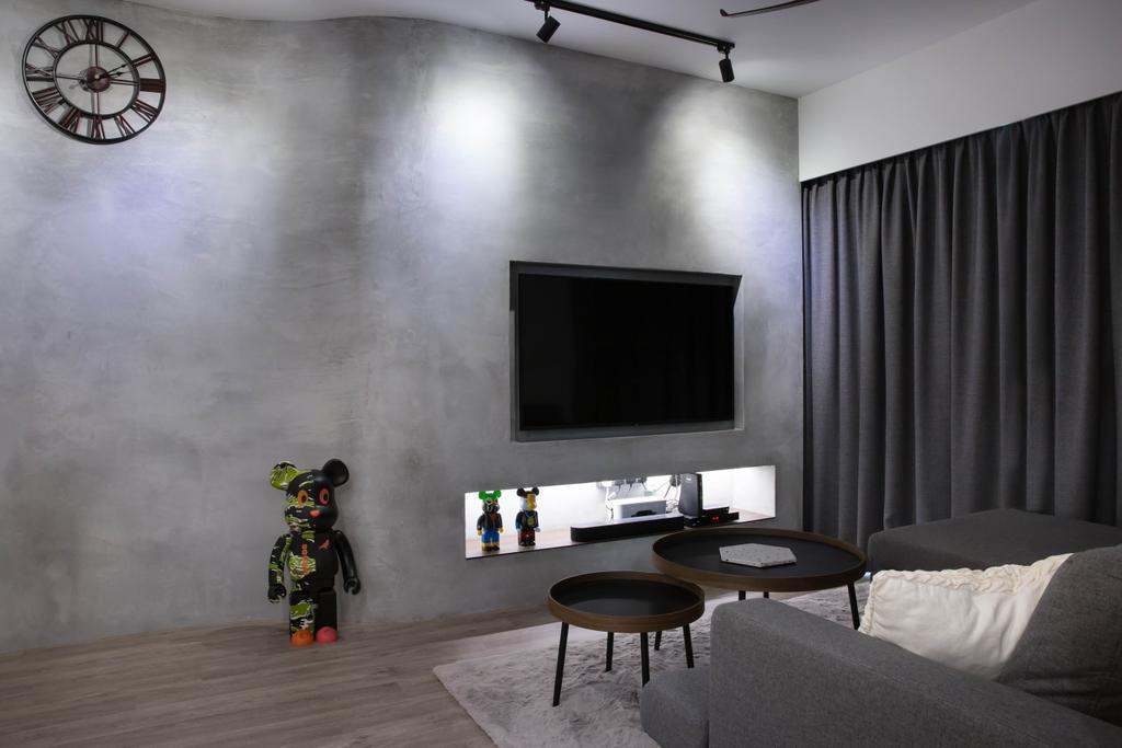 Scandinavian, HDB, Living Room, Punggol Road, Interior Designer, Inizio Atelier, Industrial