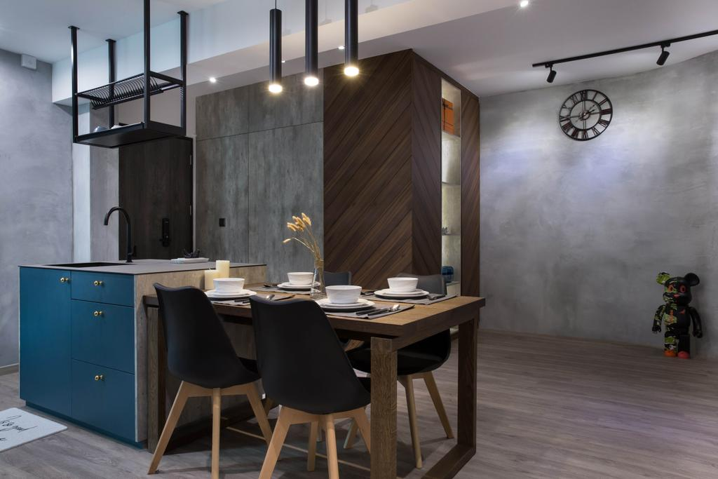 Scandinavian, HDB, Dining Room, Punggol Road, Interior Designer, Inizio Atelier, Industrial