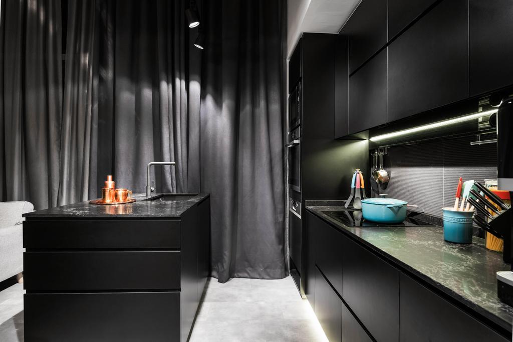 Contemporary, Condo, Kitchen, Riverbank @ Fernvale, Interior Designer, Fineline Design, Industrial