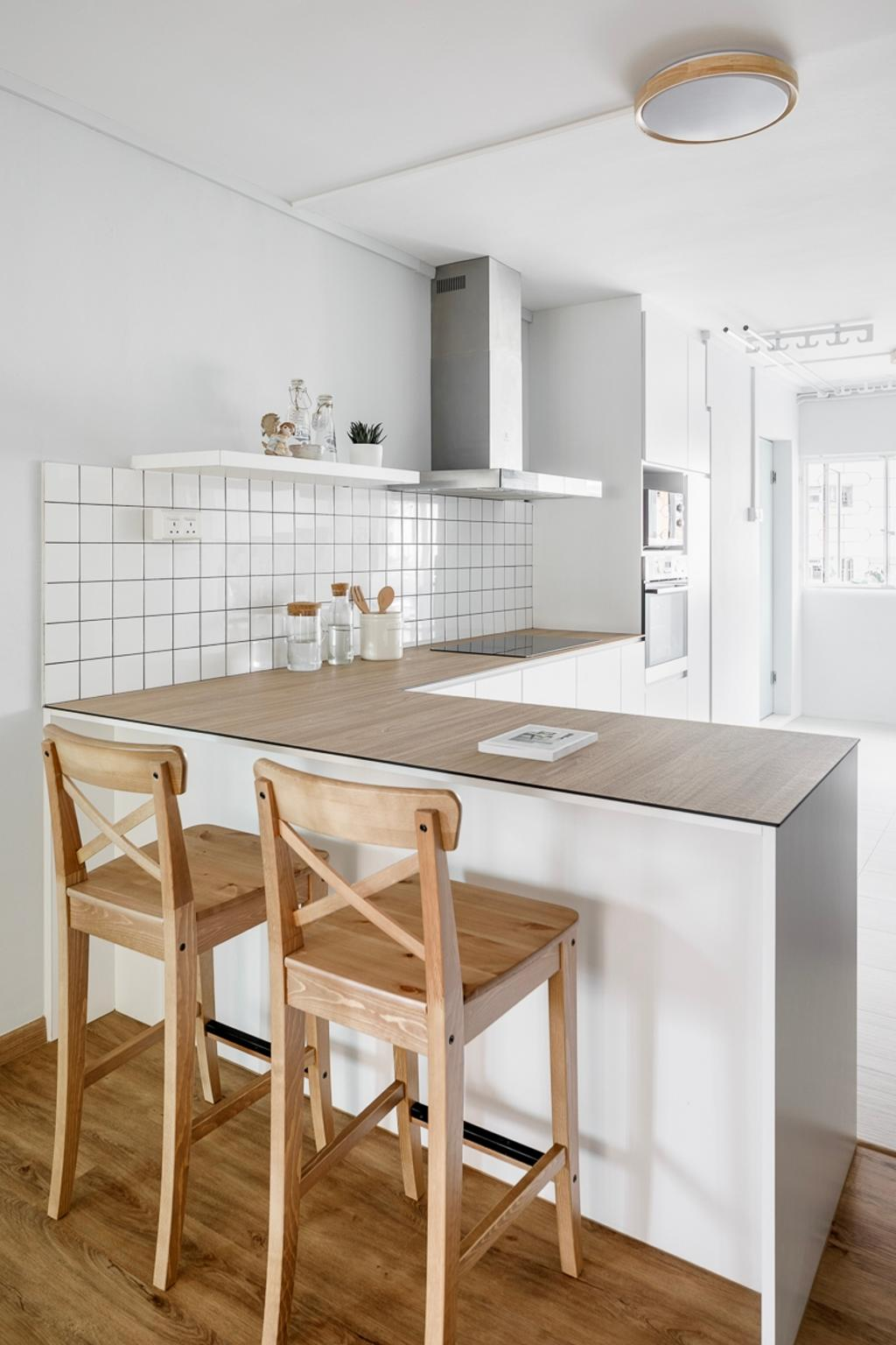 Minimalistic, HDB, Kitchen, Ang Mo Kio Avenue 1, Interior Designer, Anhans Interior Design, Scandinavian