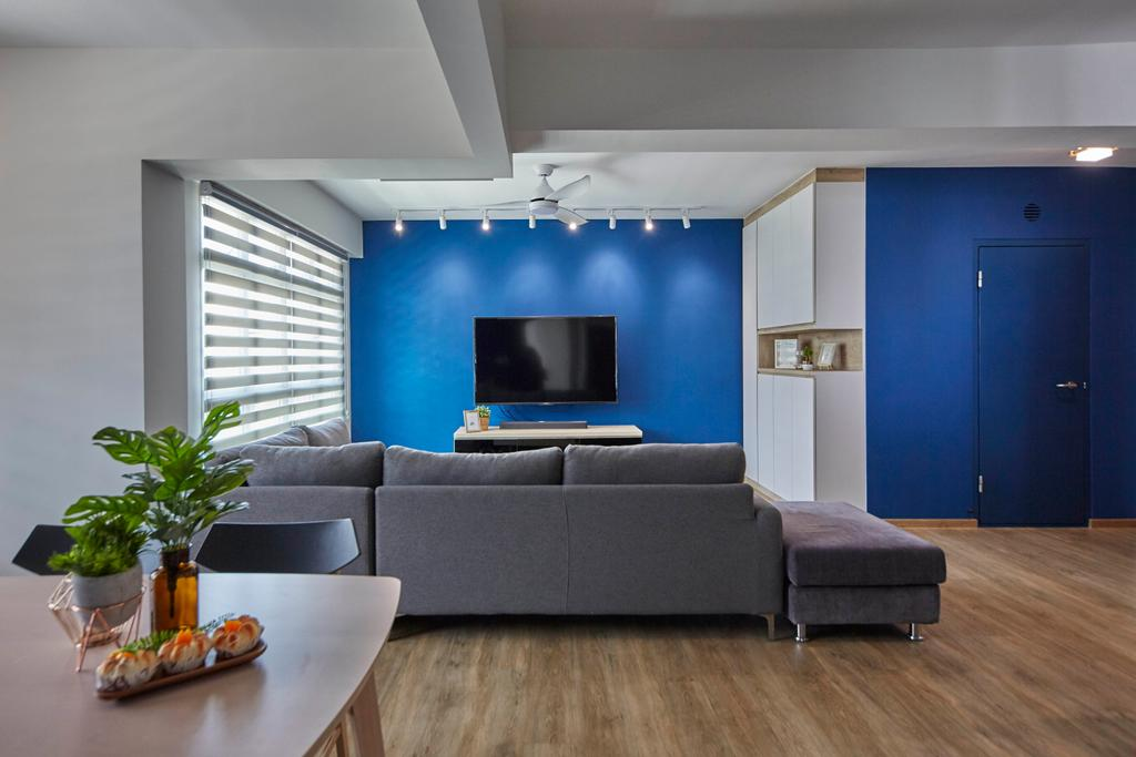Scandinavian, HDB, Living Room, Yishun Street 43, Interior Designer, i-Chapter