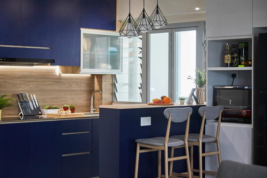 Scandinavian, HDB, Kitchen, Yishun Street 43, Interior Designer, i-Chapter