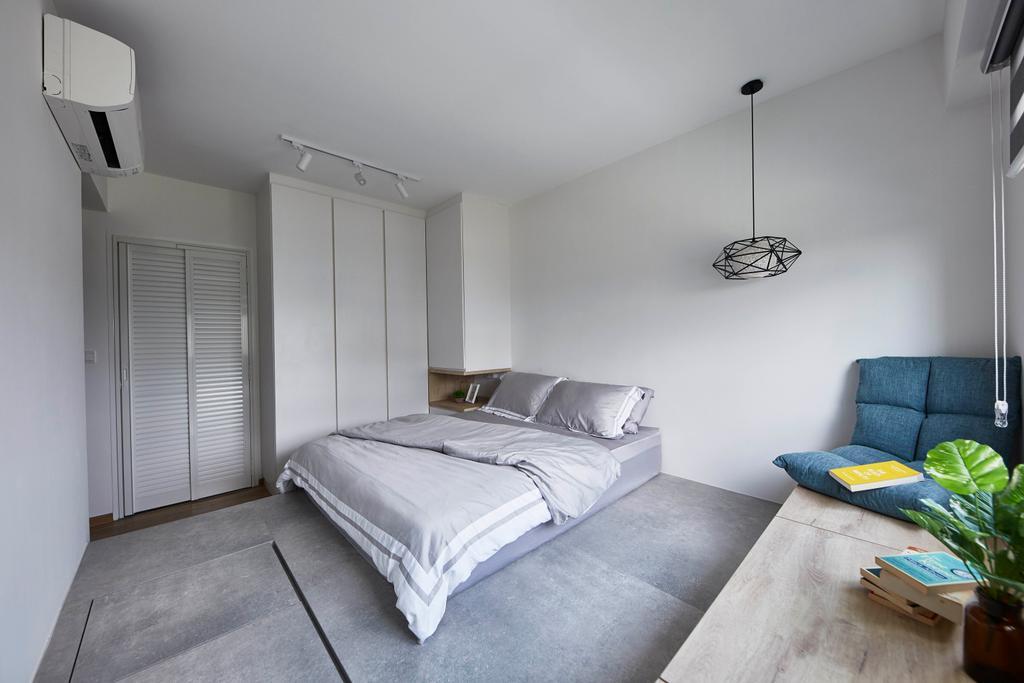 Scandinavian, HDB, Bedroom, Yishun Street 43, Interior Designer, i-Chapter