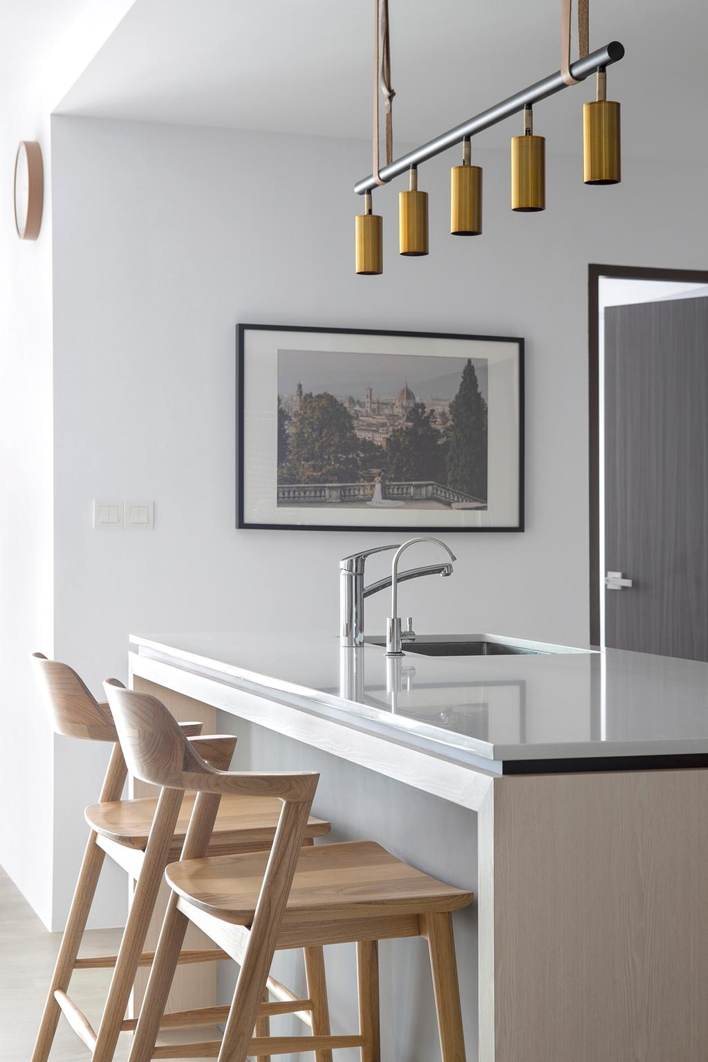 Scandinavian, HDB, Kitchen, Pinnacle @ Duxton, Interior Designer, Van Hus Interior Design, Kitchen Countertop
