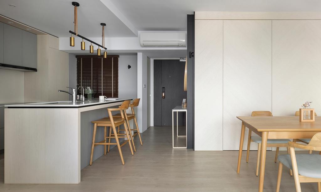 Scandinavian, HDB, Living Room, Pinnacle @ Duxton, Interior Designer, Van Hus Interior Design