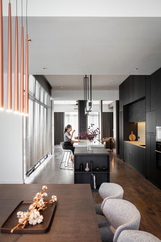 Contemporary, Landed, Kitchen, Taman Melawati, Ampang, Interior Designer, PINS Studio