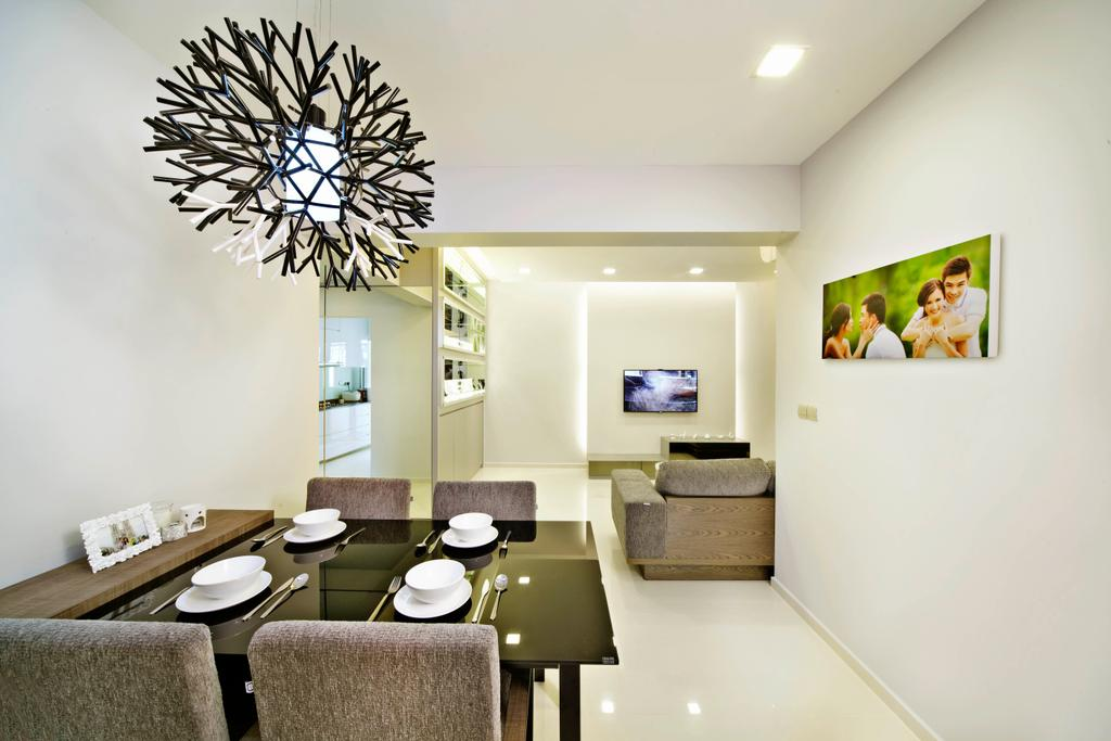 Contemporary, HDB, Dining Room, Yishun Avenue 11, Interior Designer, Studio S Sq