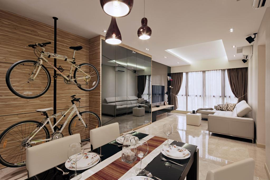 Modern, Condo, Living Room, Heritage View, Interior Designer, Studio S Sq, Contemporary