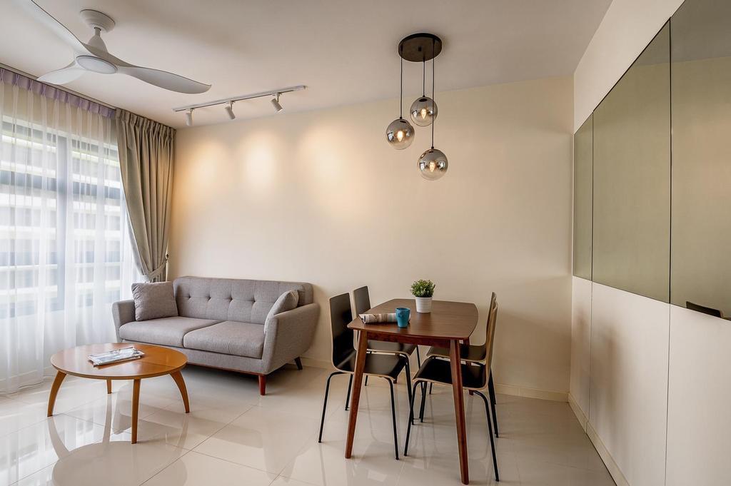 Minimalistic, HDB, Living Room, Tampines, Interior Designer, Le Interi