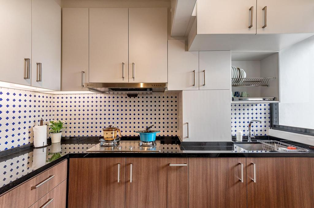 Minimalistic, HDB, Kitchen, Tampines, Interior Designer, Le Interi