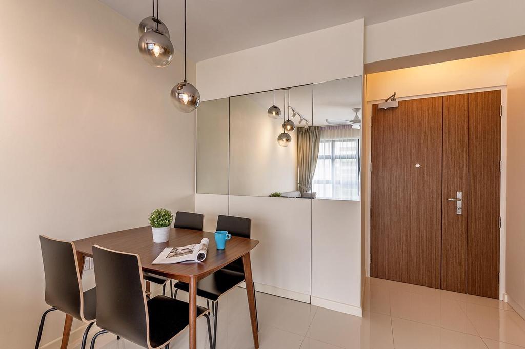 Minimalistic, HDB, Dining Room, Tampines, Interior Designer, Le Interi