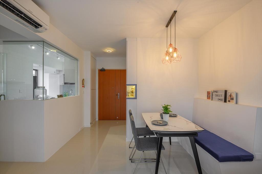 Modern, HDB, Dining Room, Canberra, Interior Designer, Le Interi