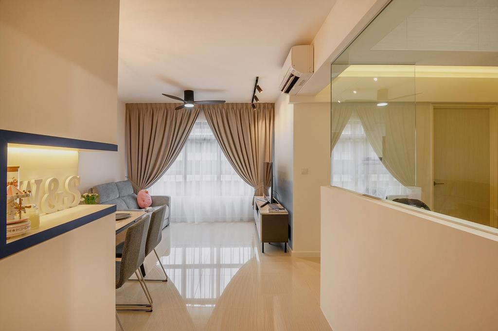 Modern, HDB, Living Room, Canberra, Interior Designer, Le Interi