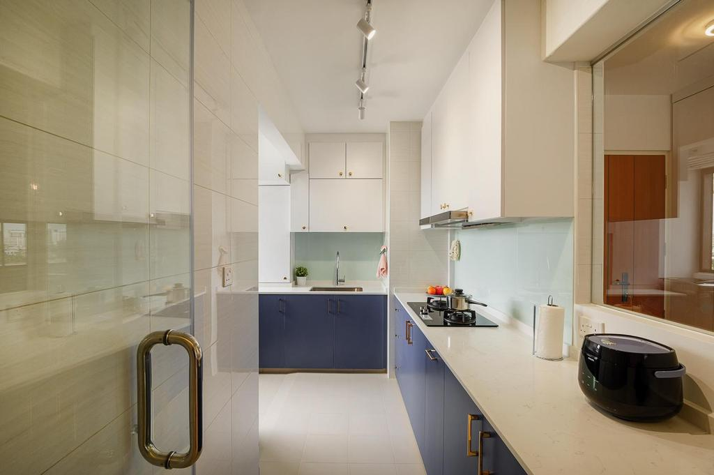 Modern, HDB, Kitchen, Canberra, Interior Designer, Le Interi