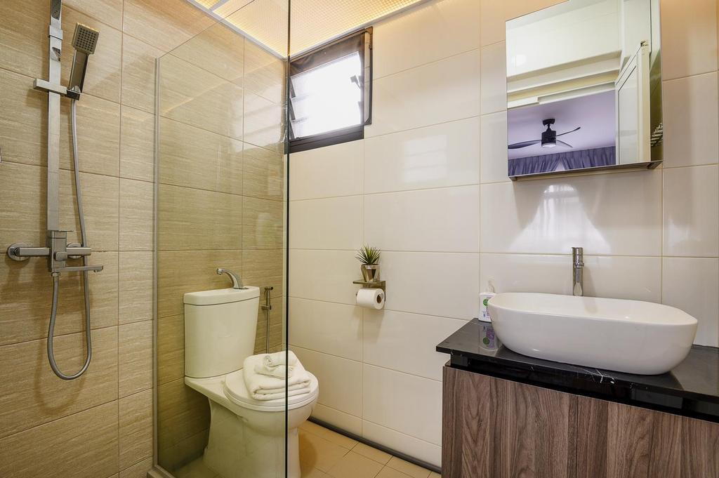 Modern, HDB, Bathroom, Canberra, Interior Designer, Le Interi