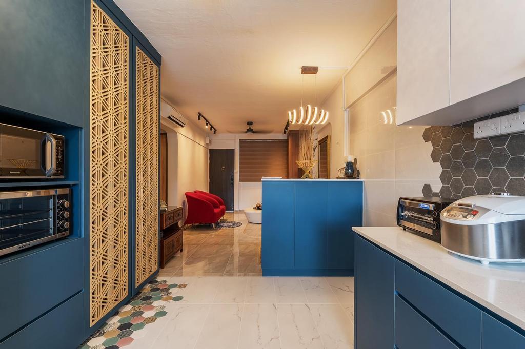 Contemporary, HDB, Kitchen, Hougang, Interior Designer, Le Interi