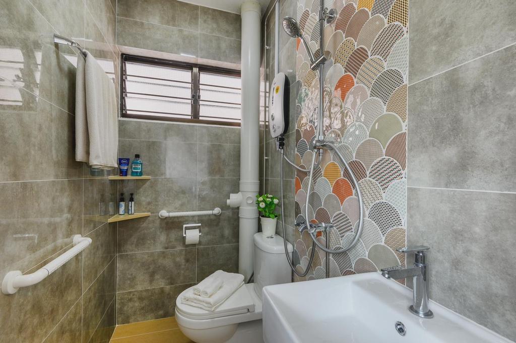 Contemporary, HDB, Bathroom, Hougang, Interior Designer, Le Interi
