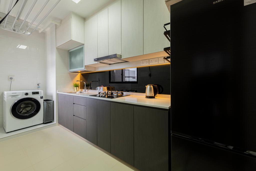 Contemporary, HDB, Kitchen, Canberra Crescent, Interior Designer, Renologist