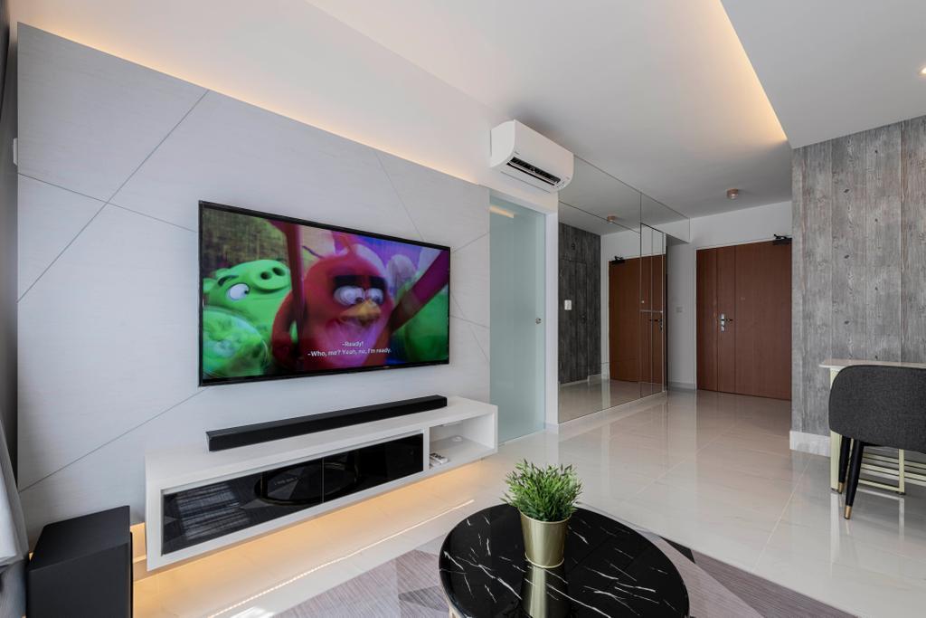Contemporary, HDB, Living Room, Canberra Crescent, Interior Designer, Renologist