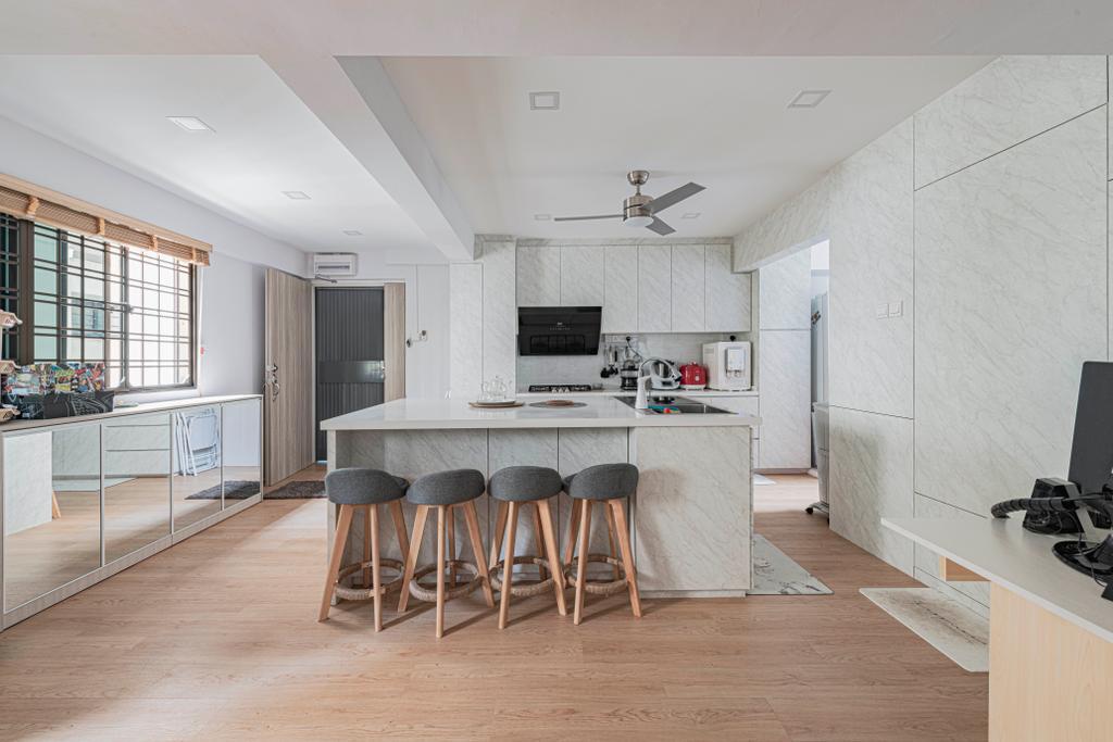 Contemporary, HDB, Kitchen, Serangoon North Avenue 3, Interior Designer, Renologist