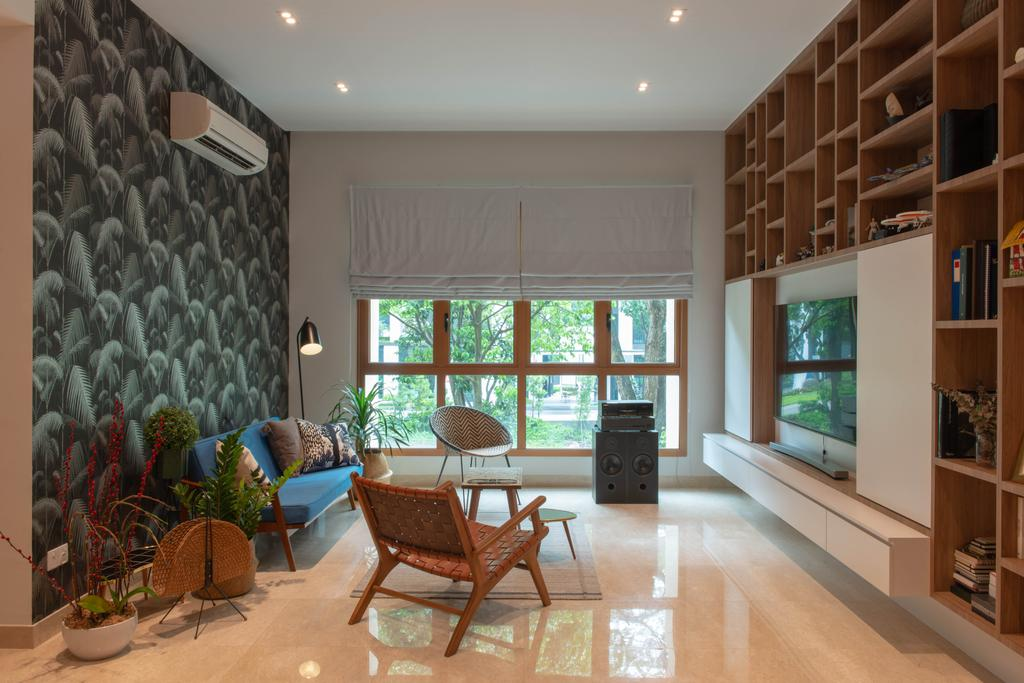 Eclectic, Condo, Living Room, Avalon, Interior Designer, Forefront Interior