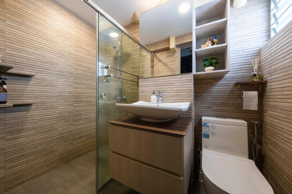 Modern, HDB, Bathroom, Ang Mo Kio Avenue 2, Interior Designer, Starry Homestead