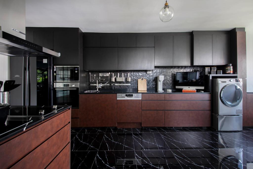 Modern, HDB, Kitchen, Jurong East Street 21, Interior Designer, Starry Homestead