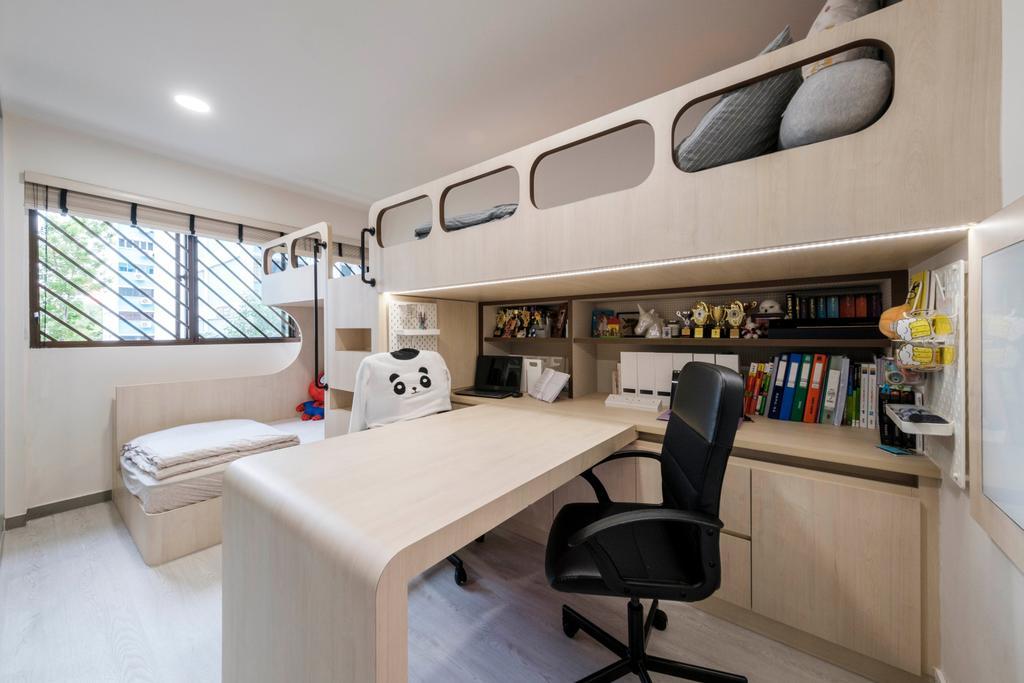 Scandinavian, HDB, Bedroom, Tampines Street 12, Interior Designer, Starry Homestead, Kids Room