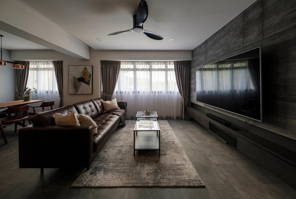 Modern, HDB, Living Room, Cantonment Close, Interior Designer, Starry Homestead
