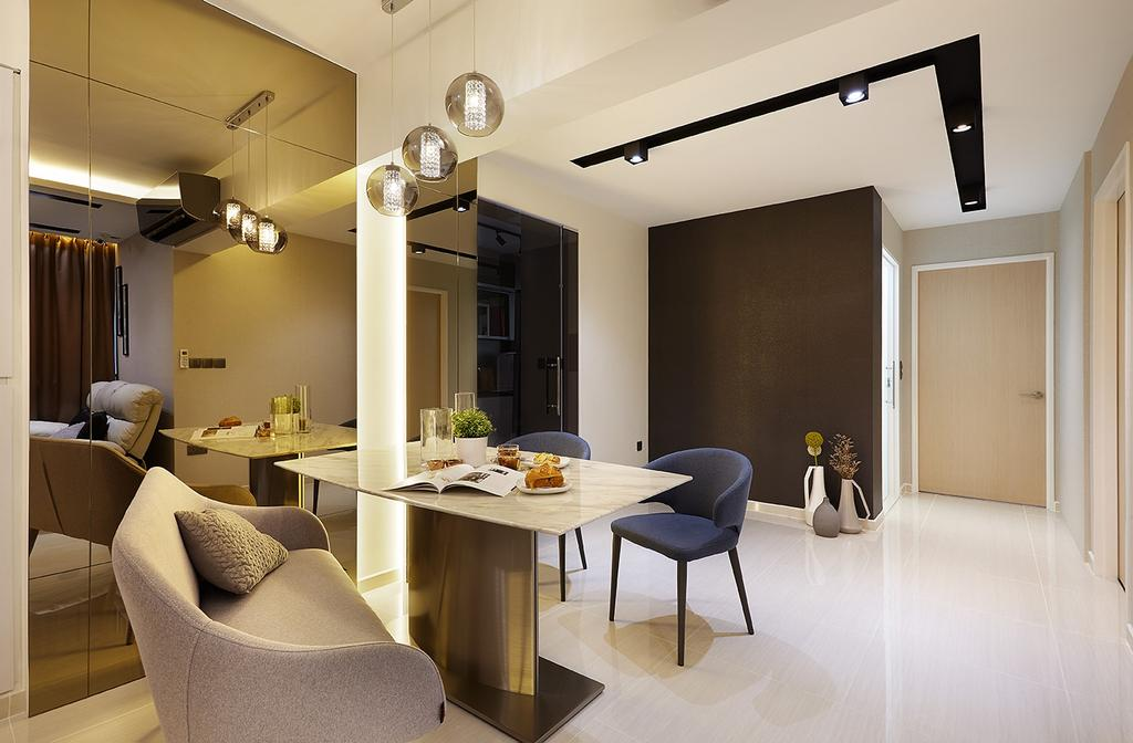 Modern, HDB, Dining Room, Keat Hong Close, Interior Designer, IB Interior