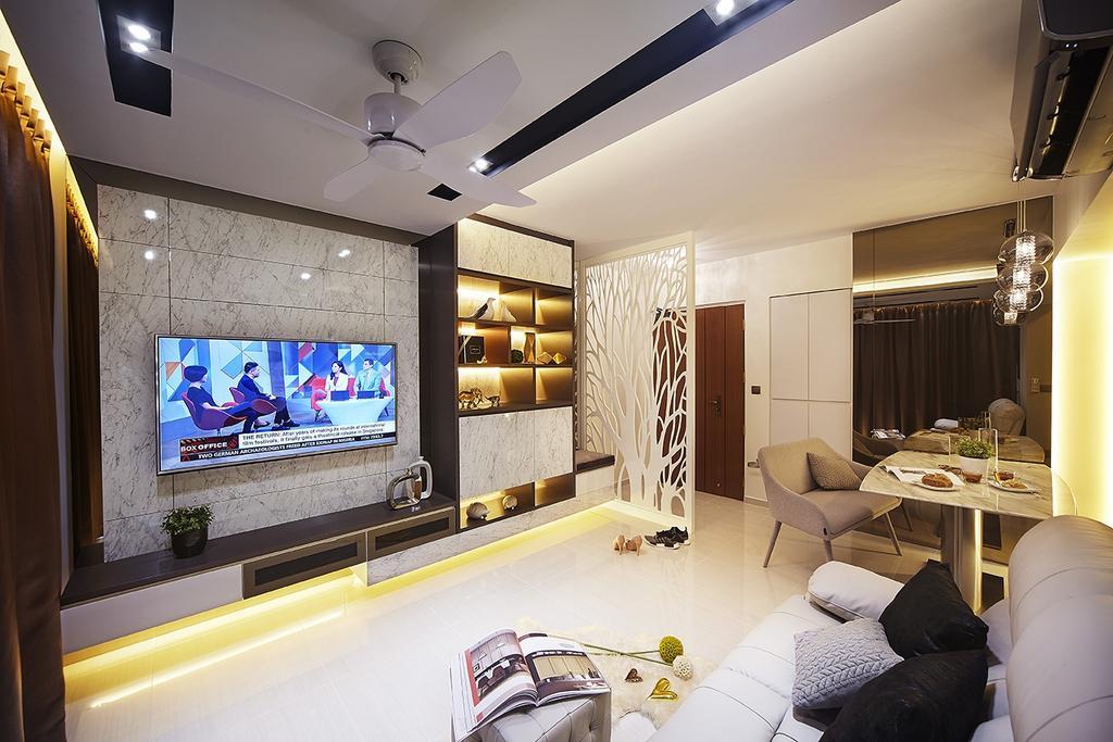 Modern, HDB, Living Room, Keat Hong Close, Interior Designer, IB Interior