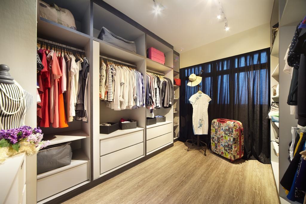 Eclectic, HDB, Bedroom, Rivervale, Interior Designer, IB Interior