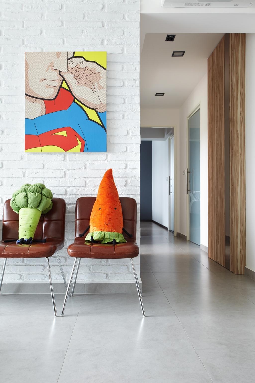 Eclectic, HDB, Living Room, Rivervale, Interior Designer, IB Interior