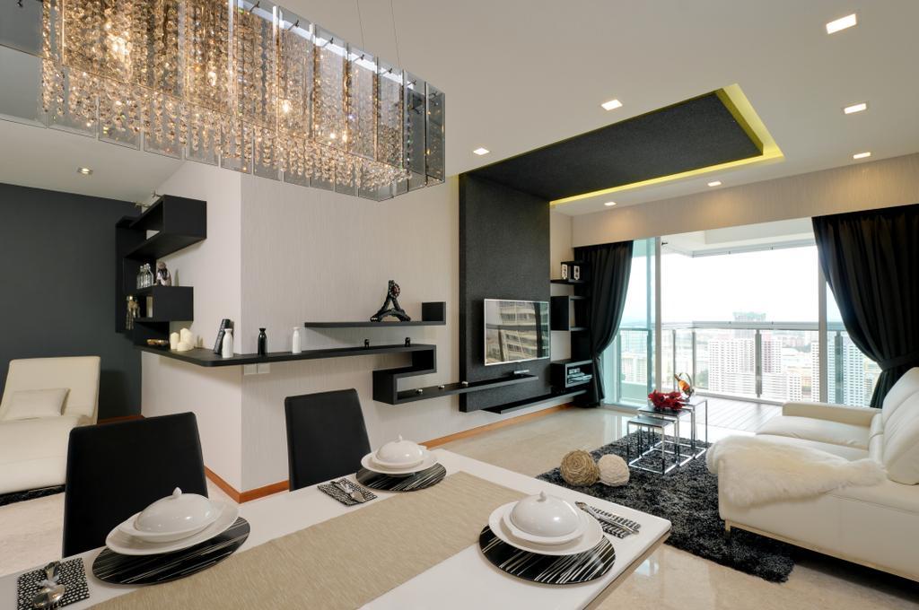 Condo, Dining Room, Clover By The Park, Interior Designer, IB Interior