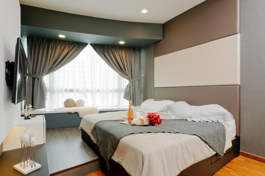 Condo, Bedroom, Clover By The Park, Interior Designer, IB Interior