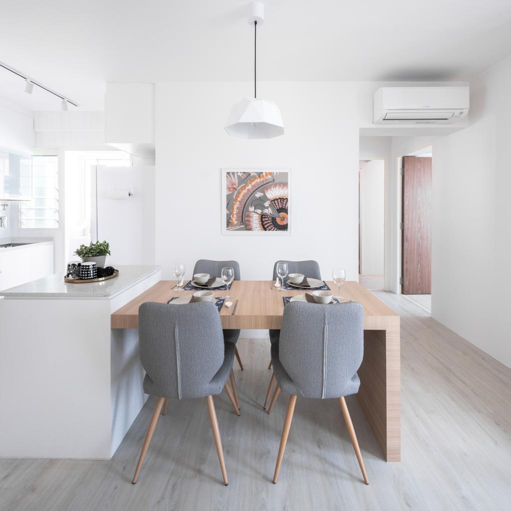 Scandinavian, HDB, Dining Room, Bukit Batok West Avenue 6, Interior Designer, Haydn Studio