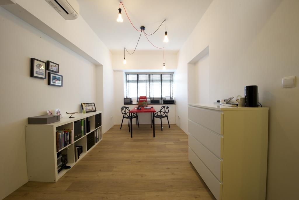 Scandinavian, HDB, Study, Fernvale Road, Interior Designer, Haydn Studio, Industrial