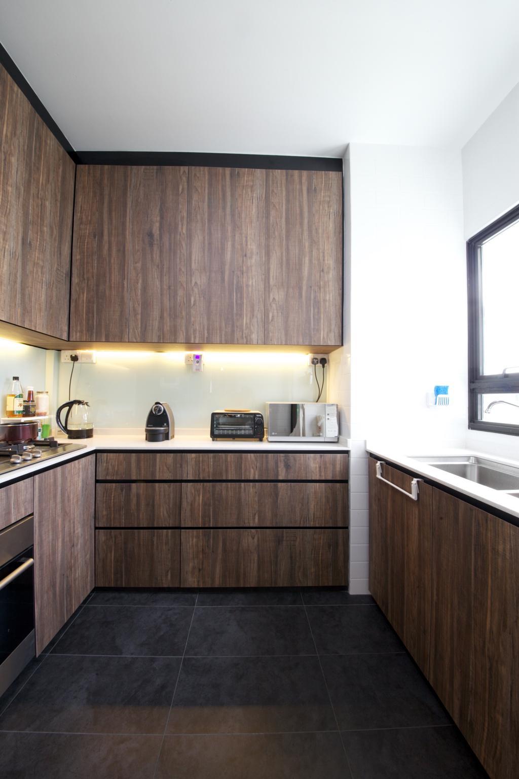 Scandinavian, HDB, Kitchen, Fernvale Road, Interior Designer, Haydn Studio, Industrial