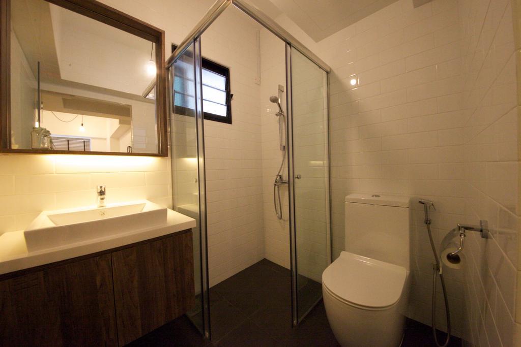 Scandinavian, HDB, Bathroom, Fernvale Road, Interior Designer, Haydn Studio, Industrial