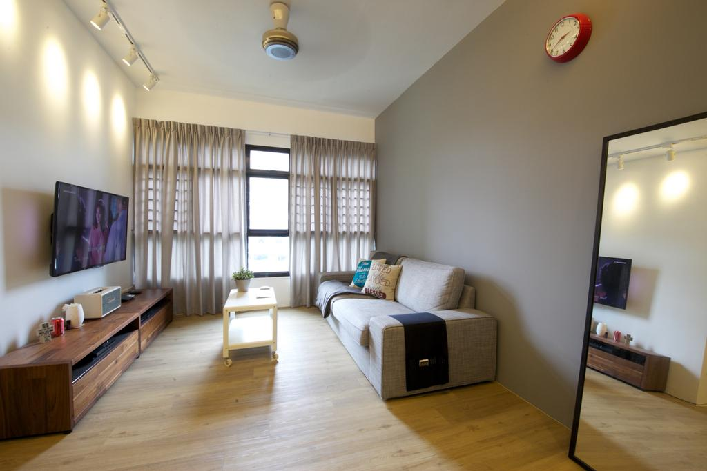 Scandinavian, HDB, Living Room, Fernvale Road, Interior Designer, Haydn Studio, Industrial