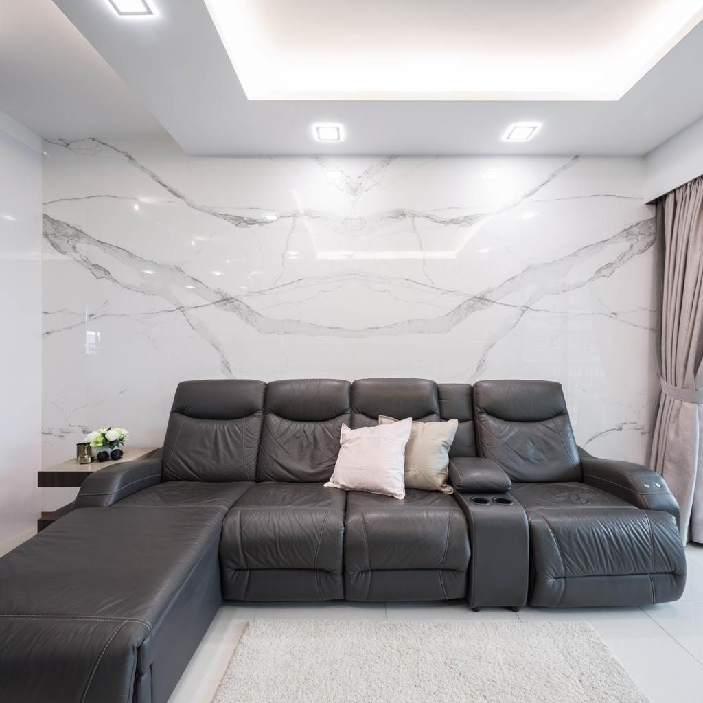 Contemporary, Condo, Living Room, Caspian, Interior Designer, Haydn Studio