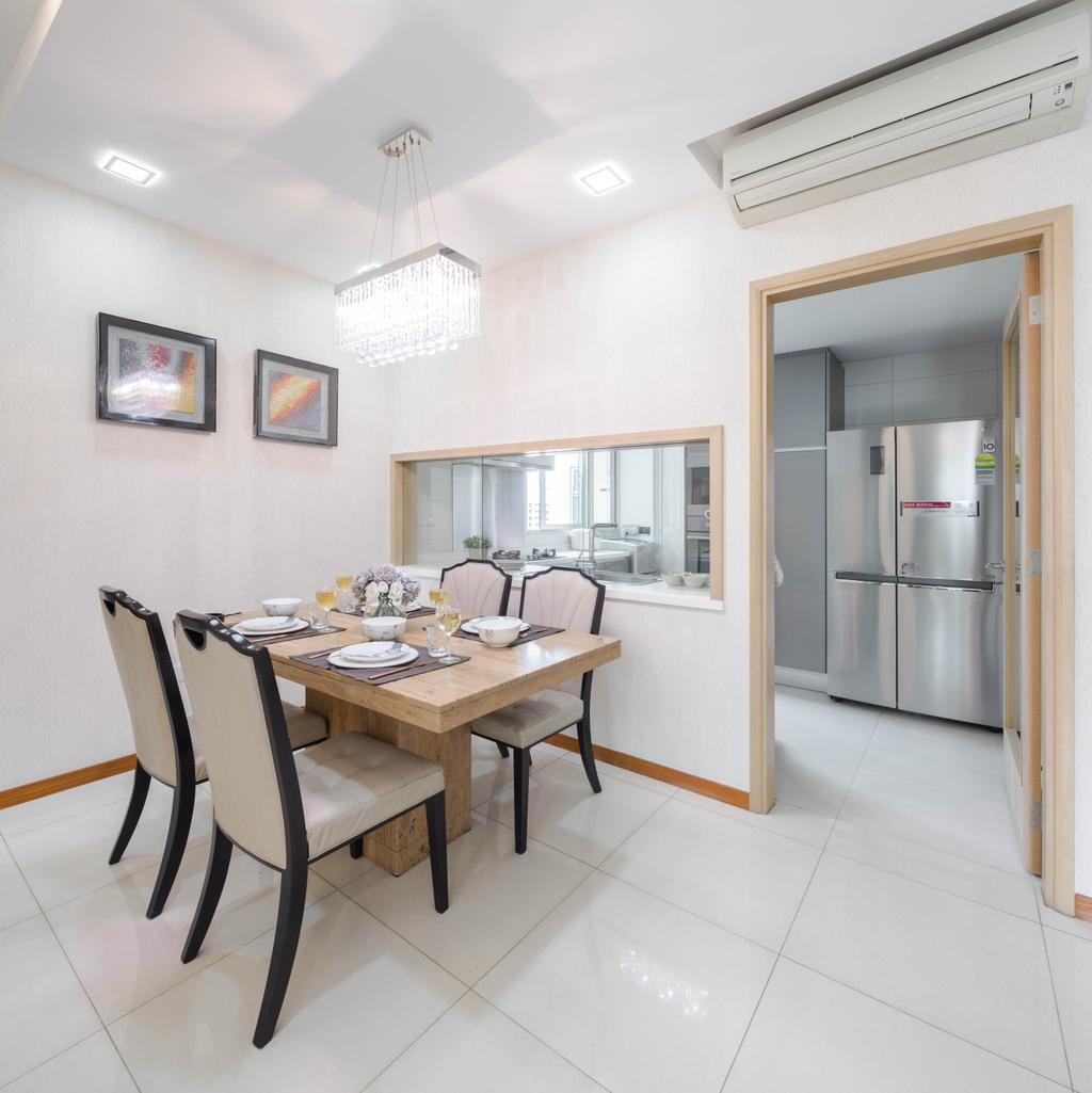 Contemporary, Condo, Dining Room, Caspian, Interior Designer, Haydn Studio
