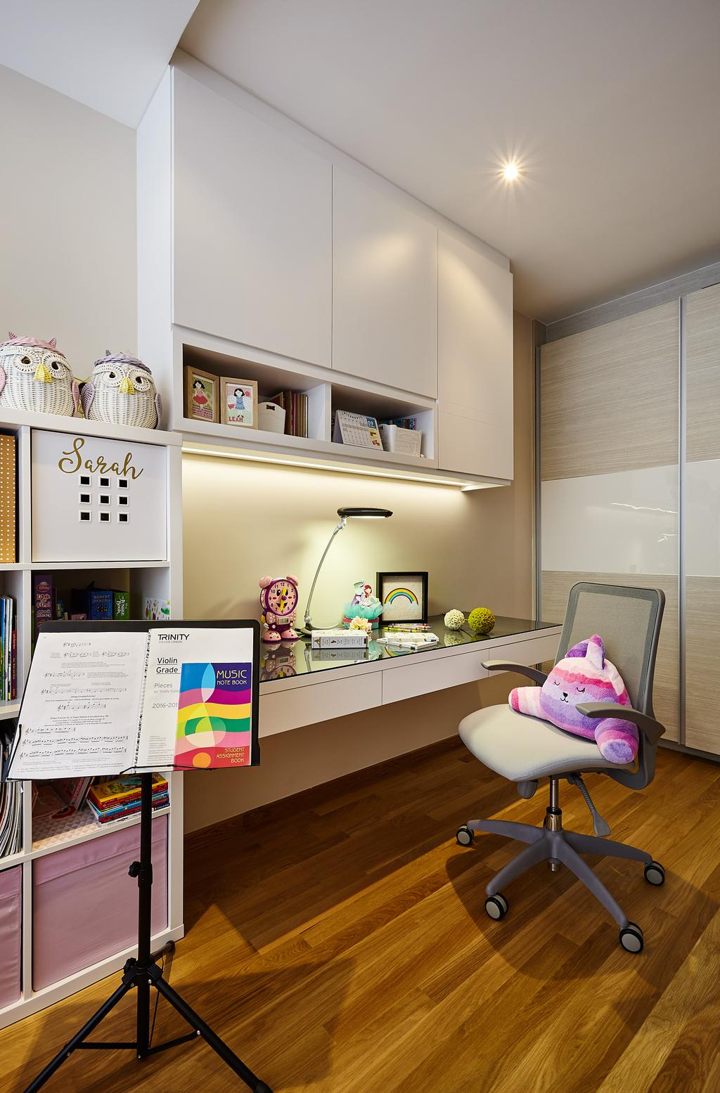 Contemporary, HDB, Study, Palacio, Interior Designer, I-Bridge Design