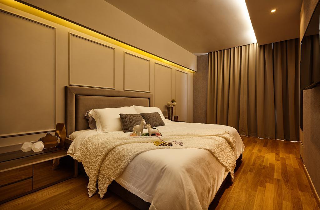 Contemporary, HDB, Bedroom, Palacio, Interior Designer, I-Bridge Design