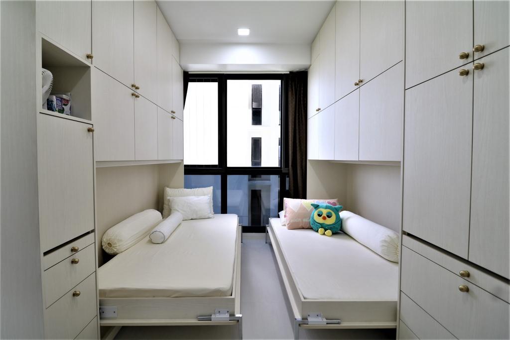 HDB, Bedroom, Waterbank @ Dakota, Interior Designer, E+e Design & Build