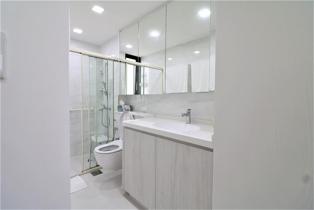 HDB, Bathroom, Waterbank @ Dakota, Interior Designer, E+e Design & Build