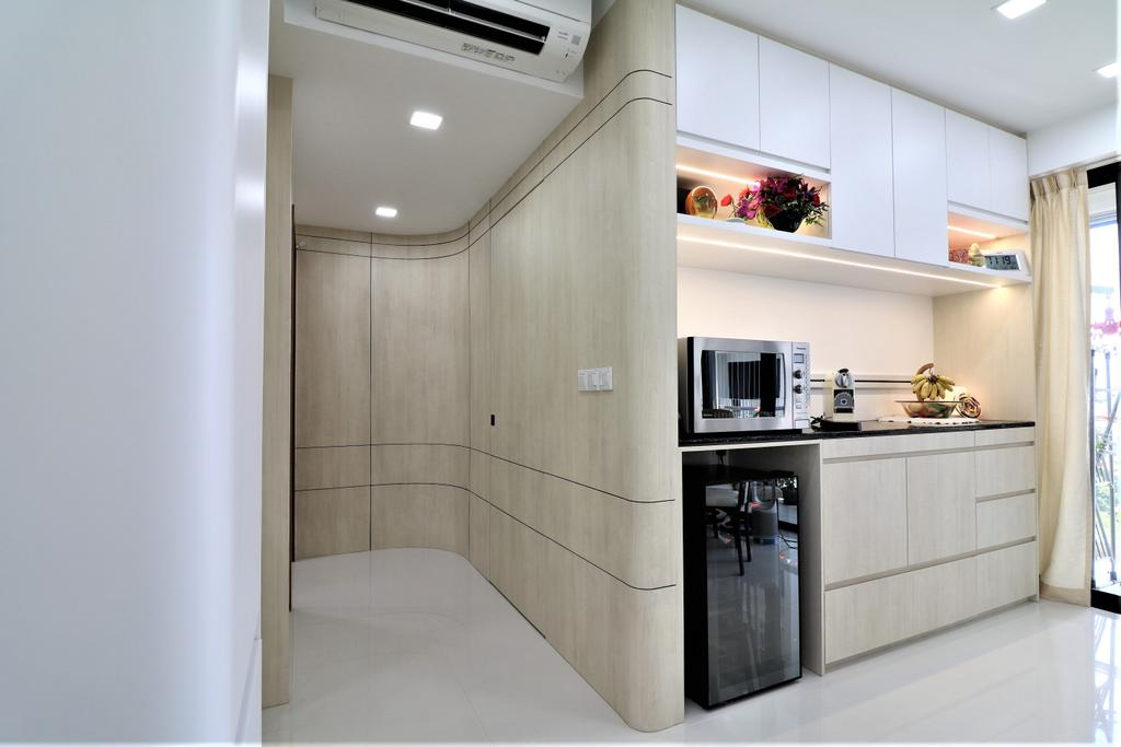 HDB, Kitchen, Waterbank @ Dakota, Interior Designer, E+e Design & Build